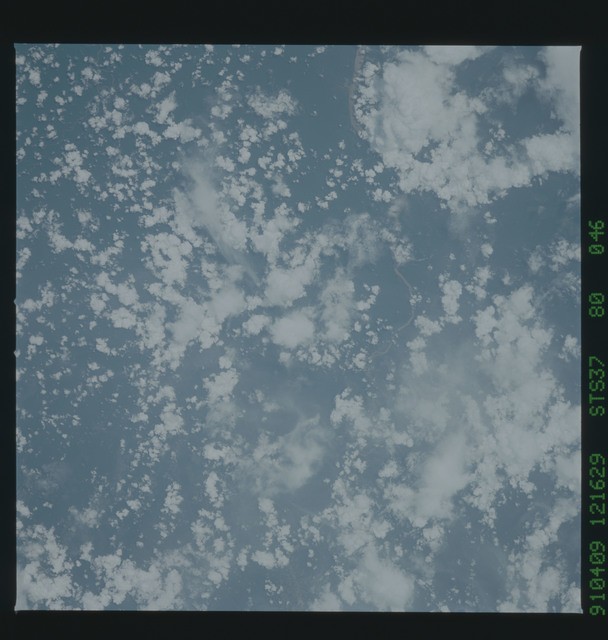S37-80-046 - STS-037 - Earth observations taken during the STS-37 mission