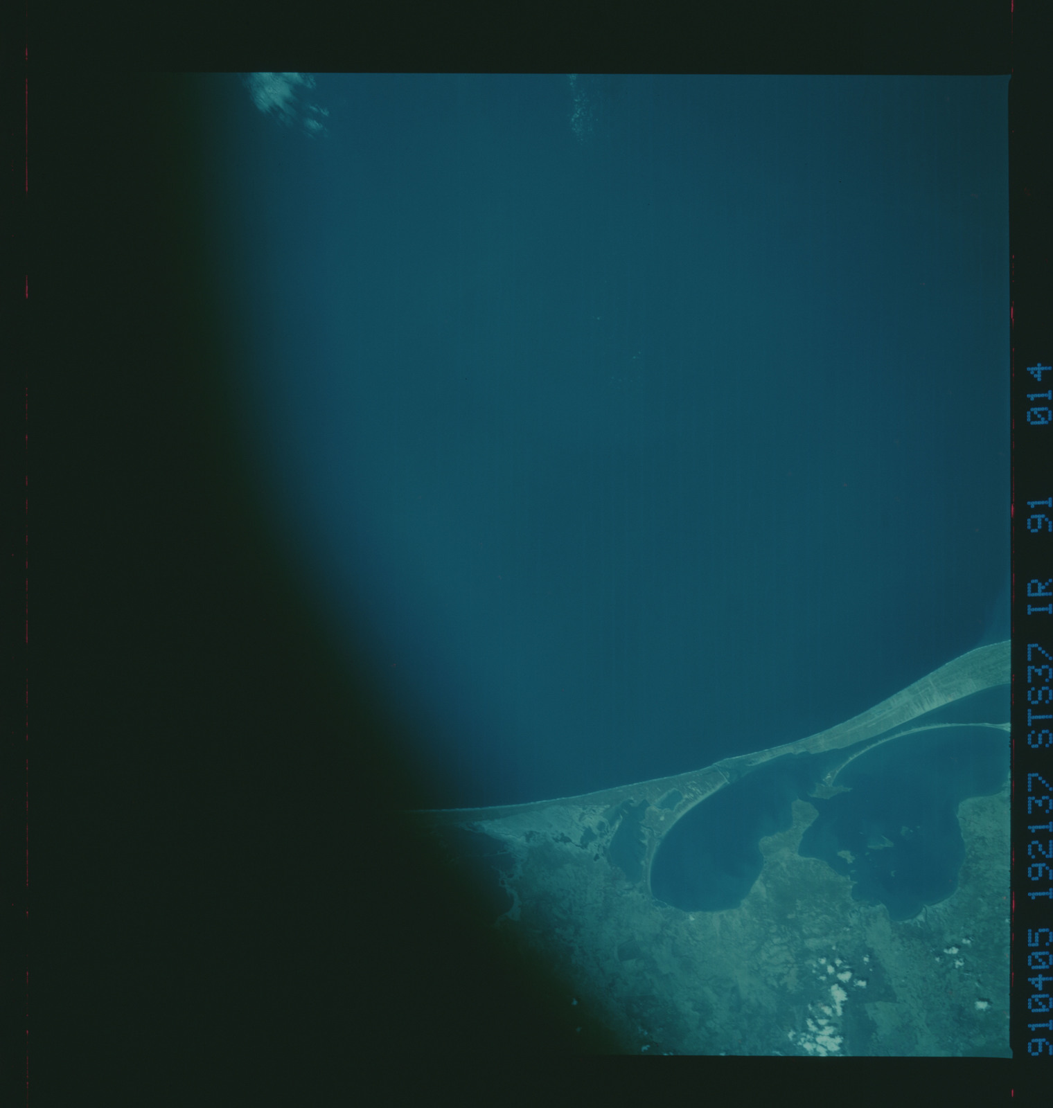 S37-91-014 - STS-037 - Infrared Earth observations taken from OV-104 during STS-37 mission