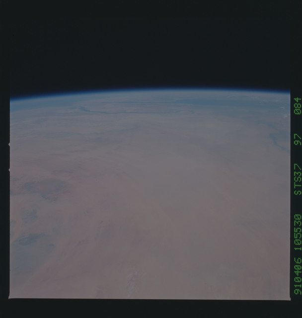 S37-97-084 - STS-037 - Earth observations taken from OV-104 during STS-37 mission