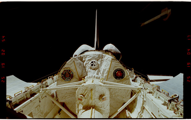 S42-25-007 - STS-042 - IML-1 Spacelab module and tunnel in payload bay