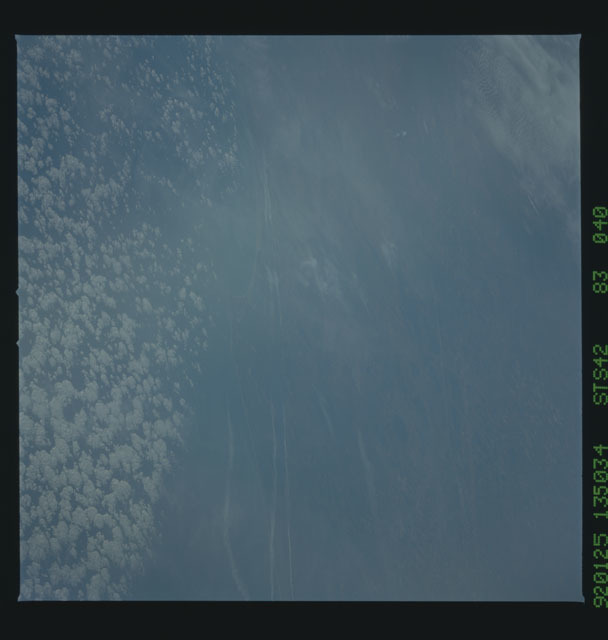S42-83-040 - STS-042 - STS-42 earth observations