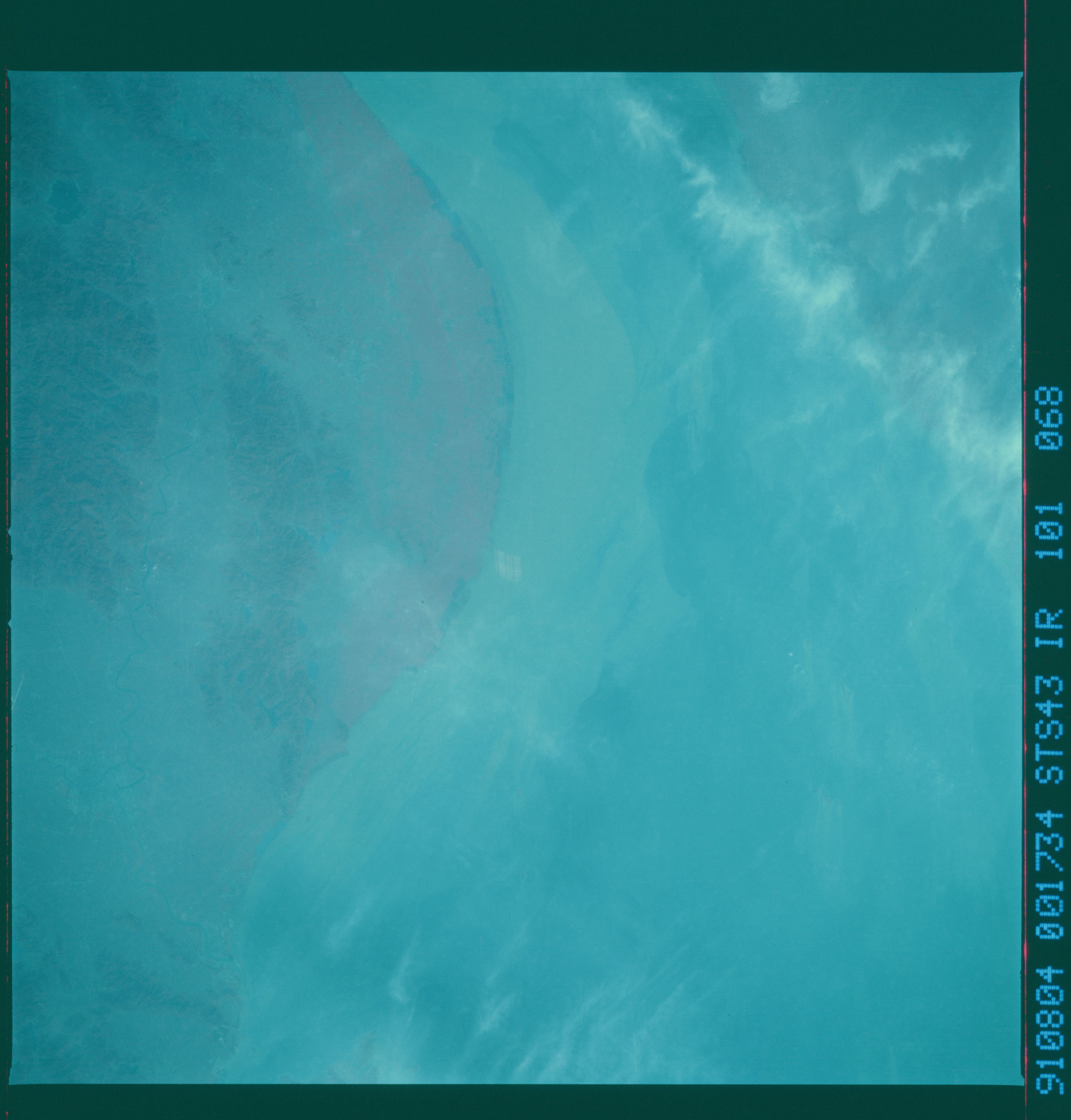 S43-101-068 - STS-043 - STS-43 earth observations