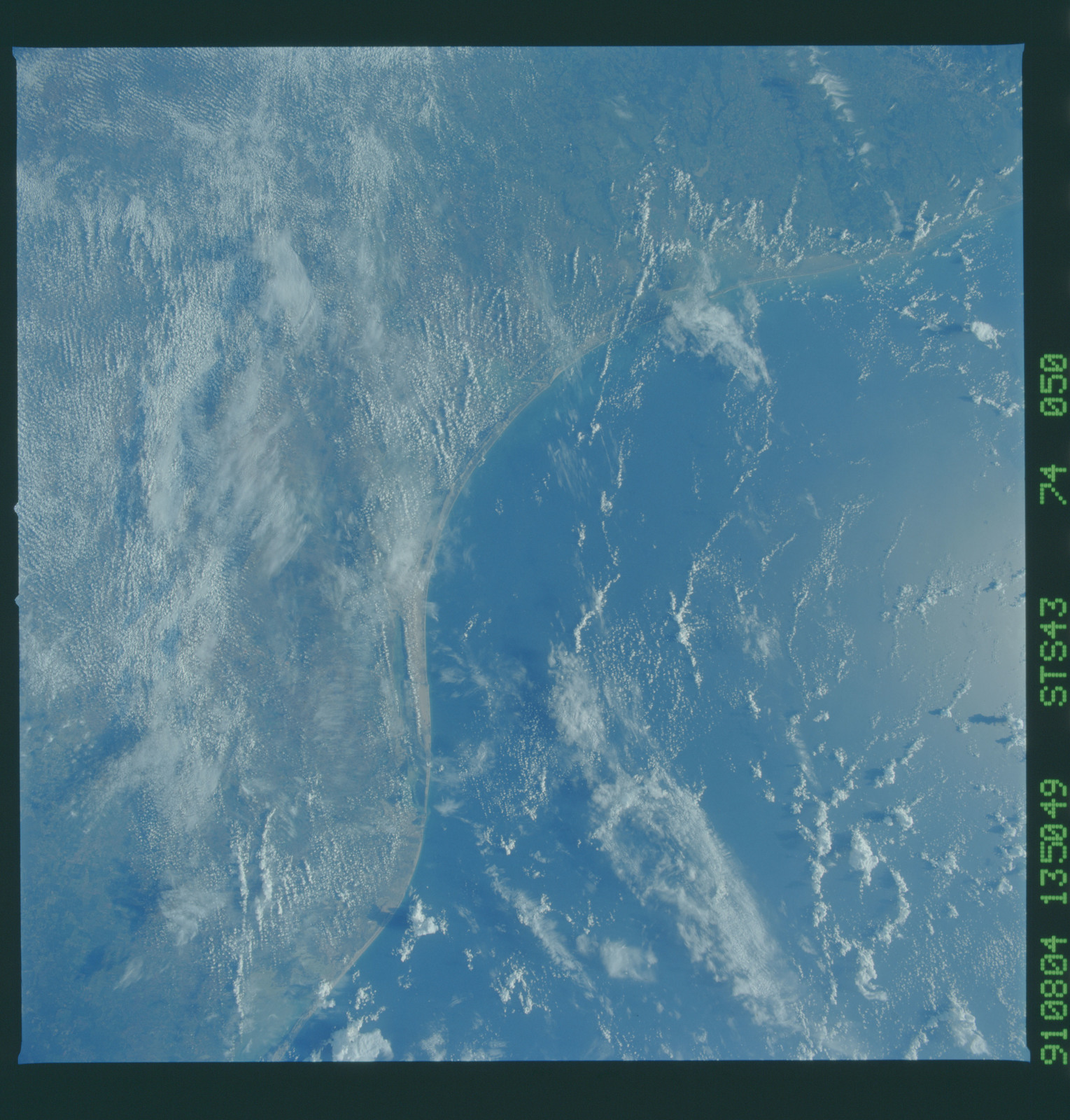 S43-74-050 - STS-043 - STS-43 earth observations