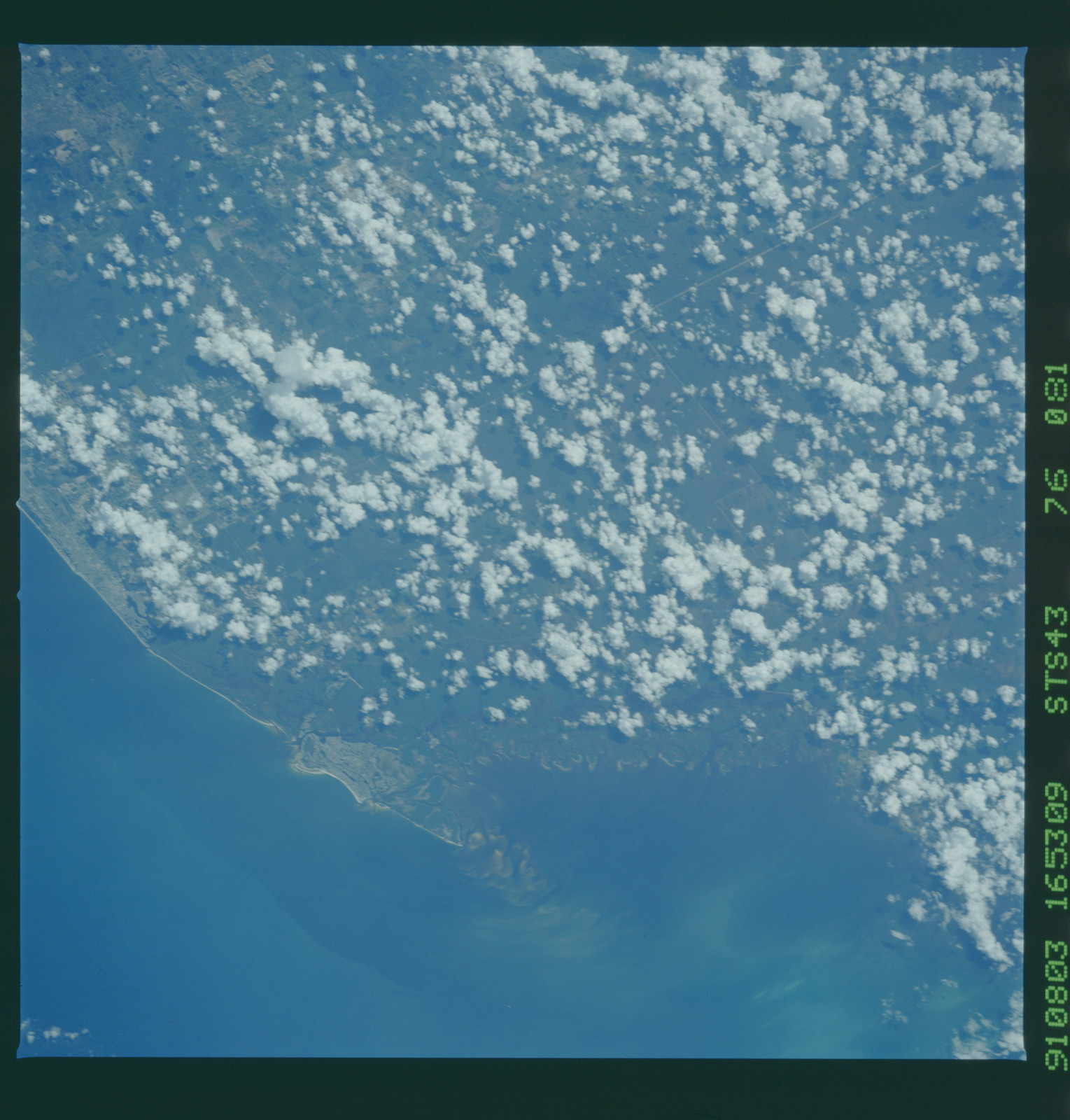 S43-76-081 - STS-043 - STS-43 earth observations