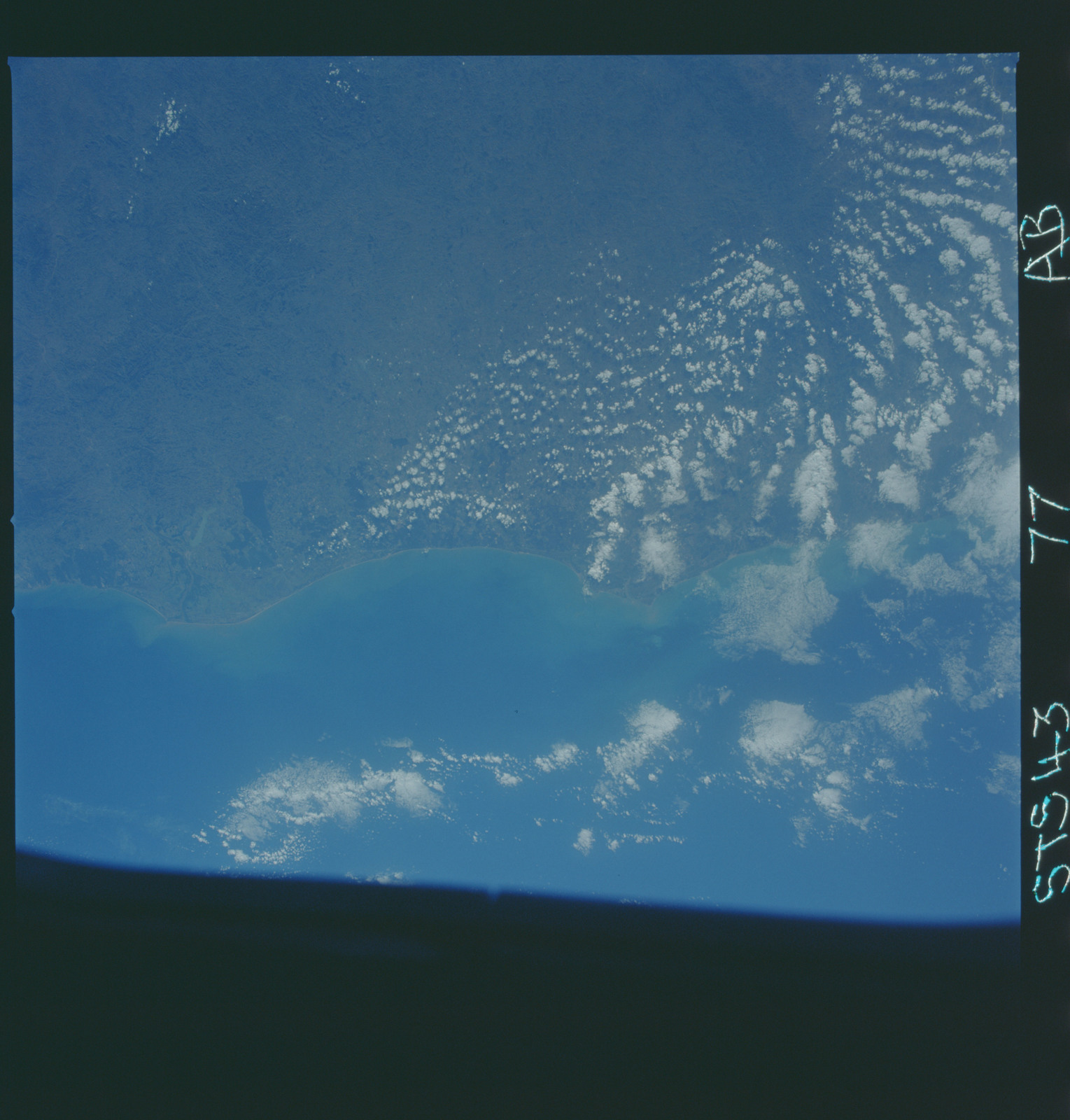 S43-77-000AB - STS-043 - STS-43 earth observations