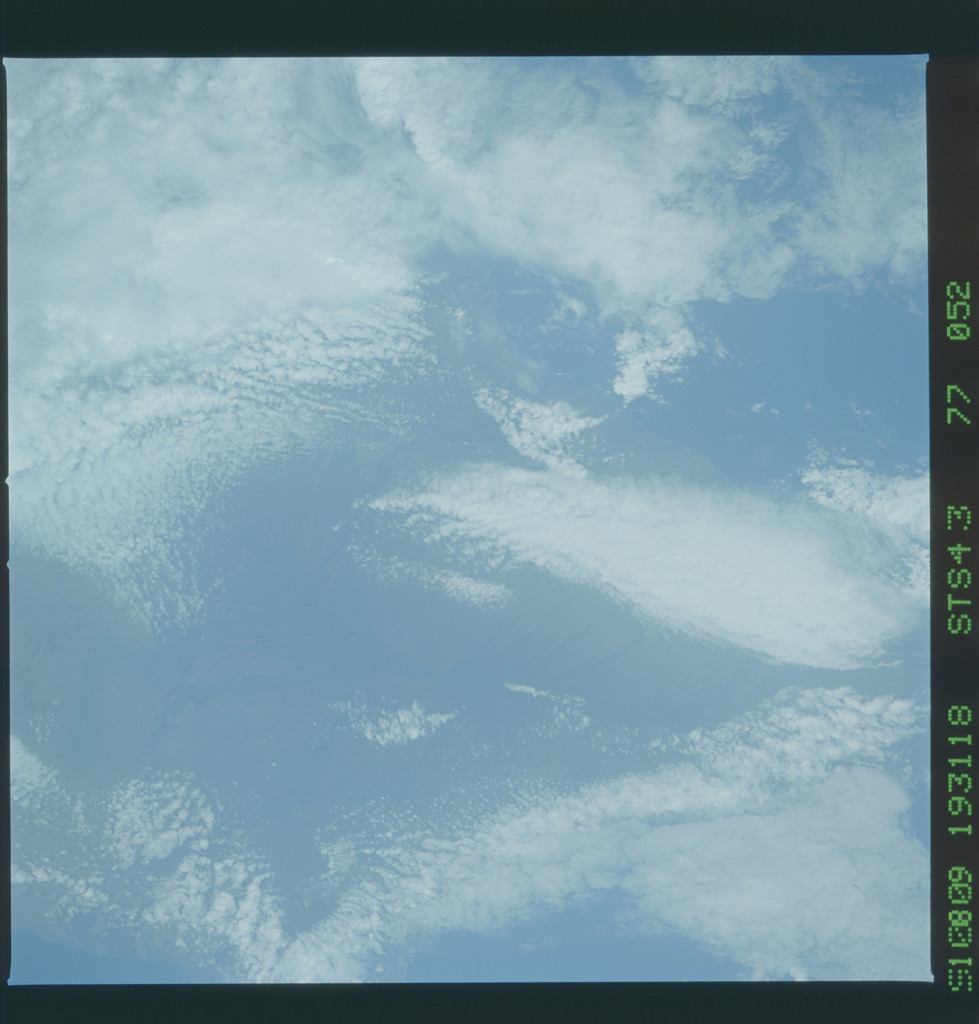 S43-77-052 - STS-043 - STS-43 earth observations
