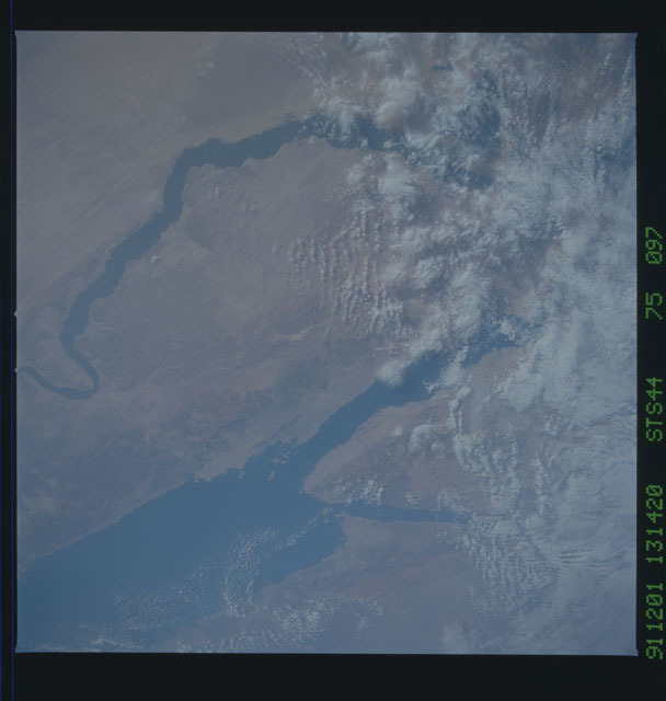 S44-75-097 - STS-044 - A wide view of Egypt taken during the STS-44 mission