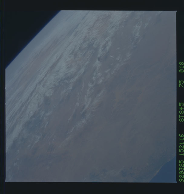 S45-75-018 - STS-045 - STS-45 earth observations