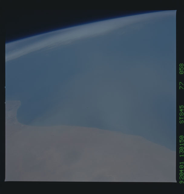 S45-77-058 - STS-045 - STS-45 earth observations