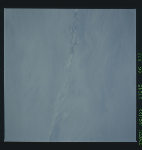 S45-86-012 - STS-045 - STS-45 earth observations