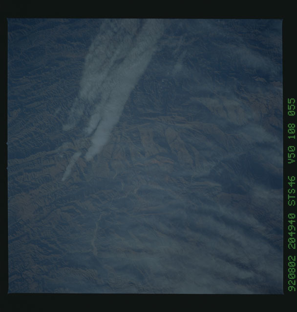S46-108-055 - STS-046 - Earth observations from the shuttle orbiter Atlantis during STS-46
