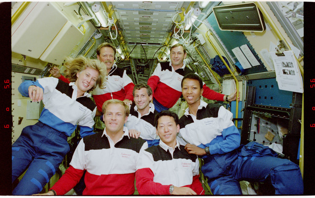 S47-09-002 - STS-047 - Inflight portrait of the STS-47 crew