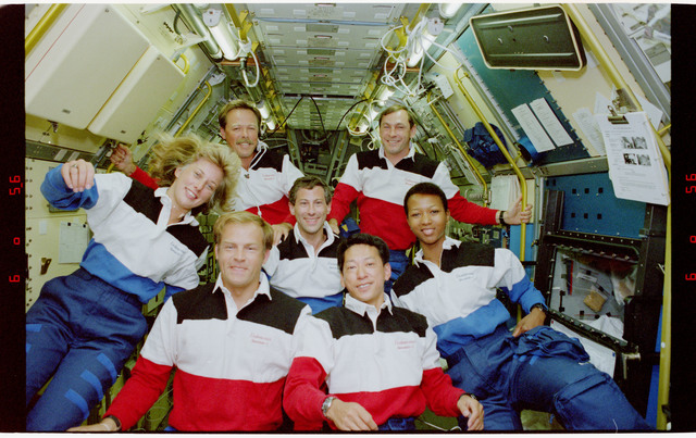 S47-09-004 - STS-047 - Inflight portrait of the STS-47 crew
