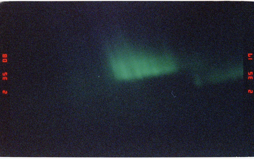 S48-25-028 - STS-048 - City lights, auroras and sunrise taken during STS-48 mission