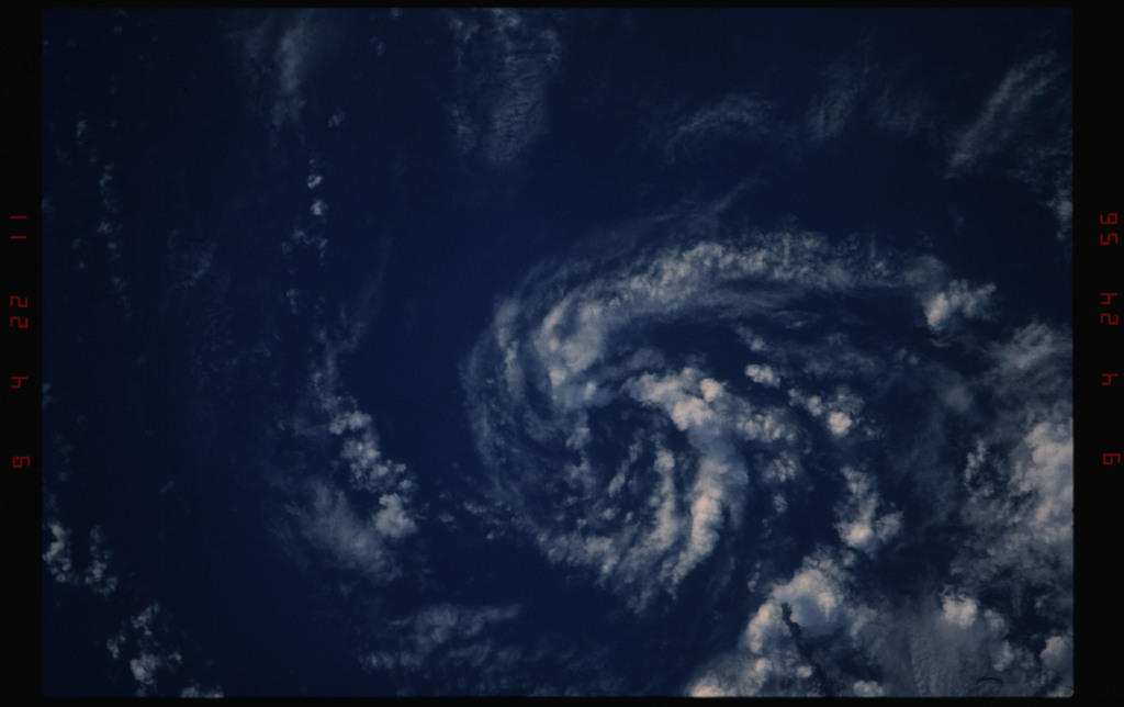 STS050-11-007 - STS-050 - Heavy cloud cover over open ocean - location unknown.