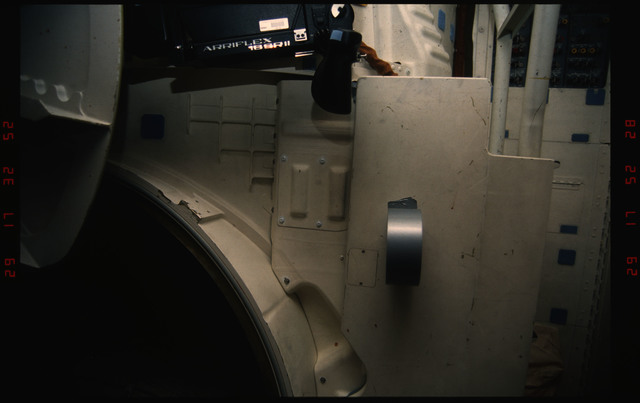 STS050-19-013 - STS-050 - Partial view of the mid deck airlock.