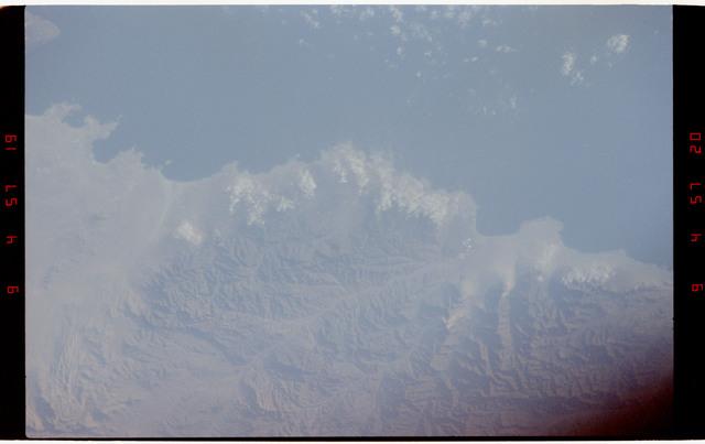 STS050-264-008 - STS-050 - Earth observations - Chilian coastline, Concepcion, Punta Lavapie.