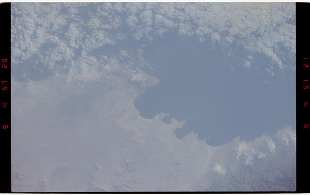 STS050-264-009 - STS-050 - Earth observations - Chilian coastline, Concepcion, Punta Lavapie.
