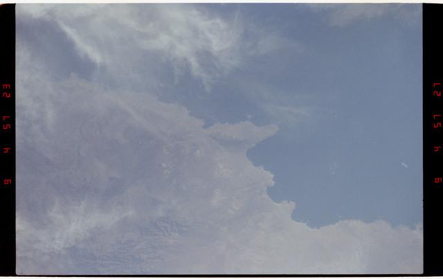 STS050-264-012 - STS-050 - Earth observations - Chilian coastline, Concepcion, Punta Lavapie.