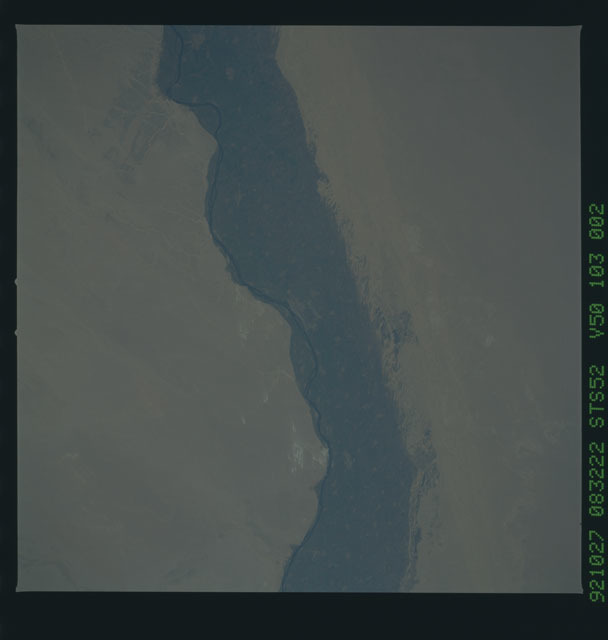 STS052-103-002 - STS-052 - Earth observations from Columbia, Orbiter Vehicle (OV) 102, during STS-52