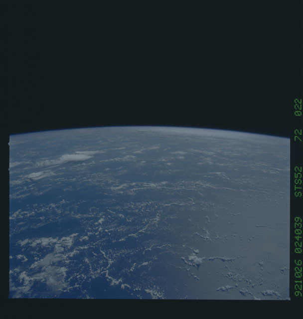 STS052-72-022 - STS-052 - Earth observations from Columbia, OV-102, during STS-52