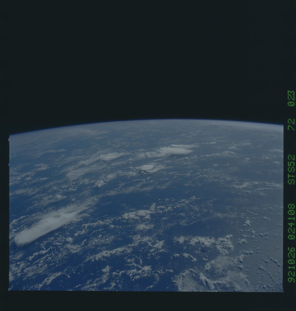 STS052-72-023 - STS-052 - Earth observations from Columbia, OV-102, during STS-52