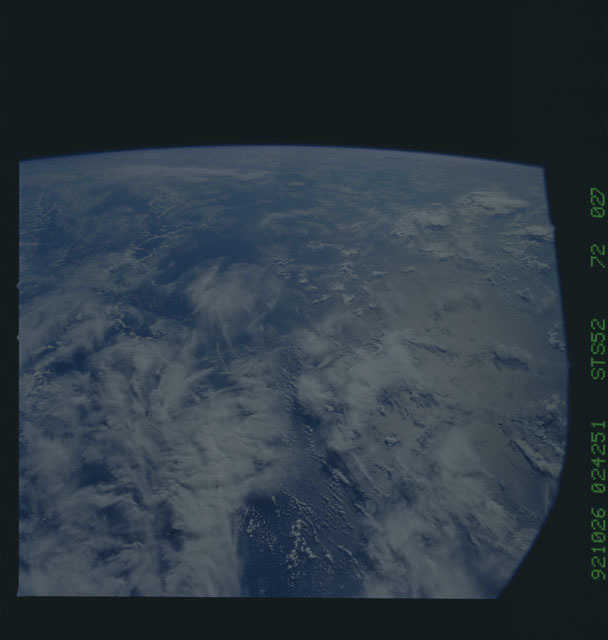 STS052-72-027 - STS-052 - Earth observations from Columbia, OV-102, during STS-52
