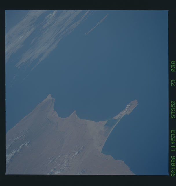 STS052-73-030 - STS-052 - Earth observations from Columbia, OV-102, during STS-52