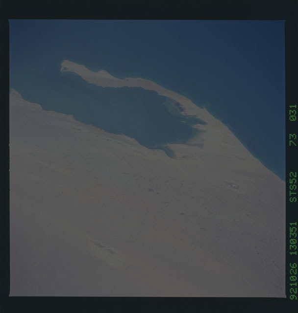 STS052-73-031 - STS-052 - Earth observations from Columbia, OV-102, during STS-52
