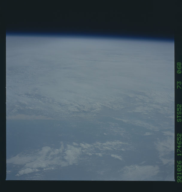 STS052-73-068 - STS-052 - Earth observations from Columbia, OV-102, during STS-52