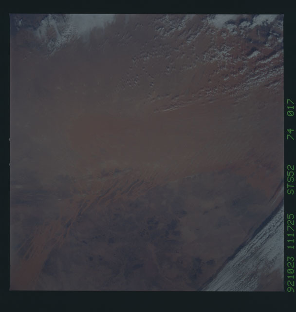 STS052-74-017 - STS-052 - Earth observations from Columbia, OV-102, during STS-52