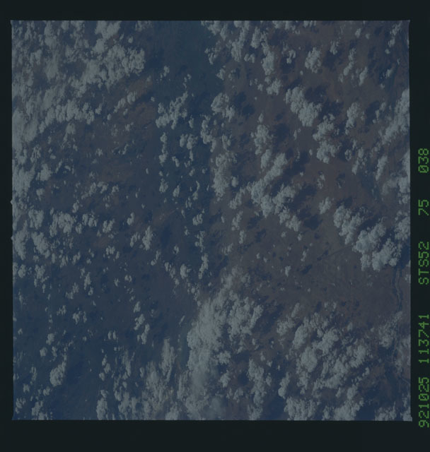 STS052-75-038 - STS-052 - Earth observations from Columbia, OV-102, during STS-52