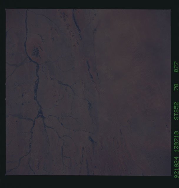 STS052-78-077 - STS-052 - Earth observations from Columbia, Orbiter Vehicle (OV) 102, during STS-52