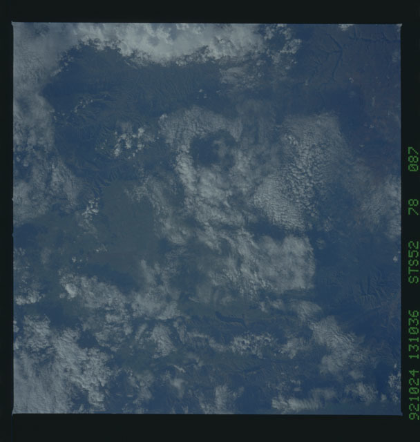 STS052-78-087 - STS-052 - Earth observations from Columbia, Orbiter Vehicle (OV) 102, during STS-52