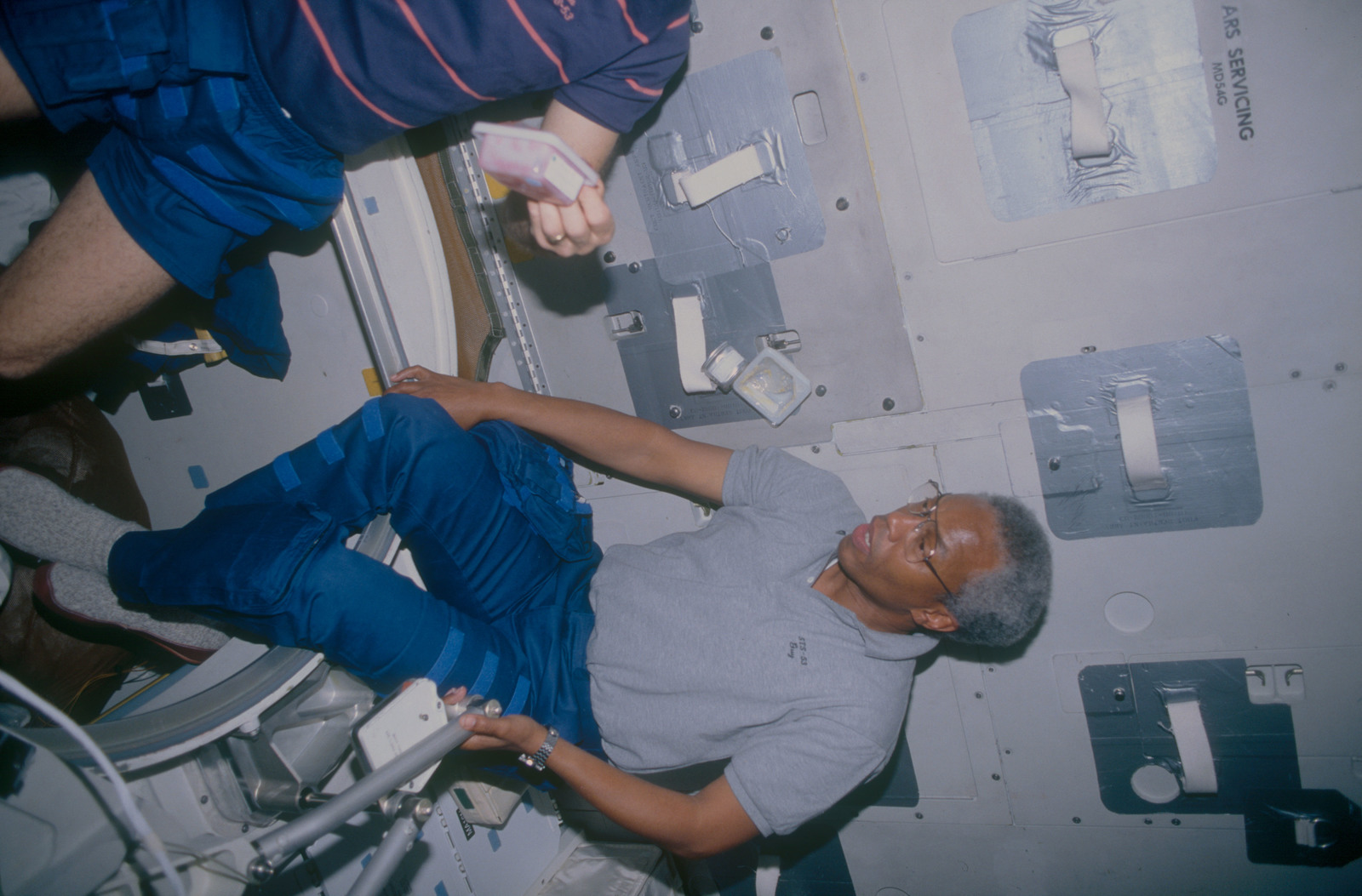 STS053-10-025 - STS-053 - Crewmember in the MDDK