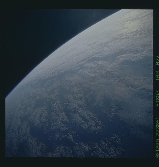 STS053-100-077 - STS-053 - Earth observations