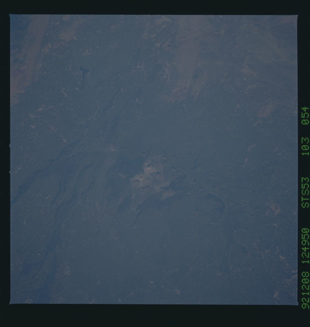 STS053-103-054 - STS-053 - Earth observations