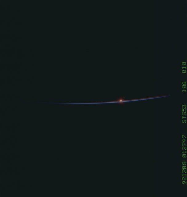 STS053-106-010 - STS-053 - Earth observations
