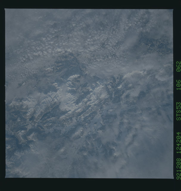 STS053-106-062 - STS-053 - Earth observations