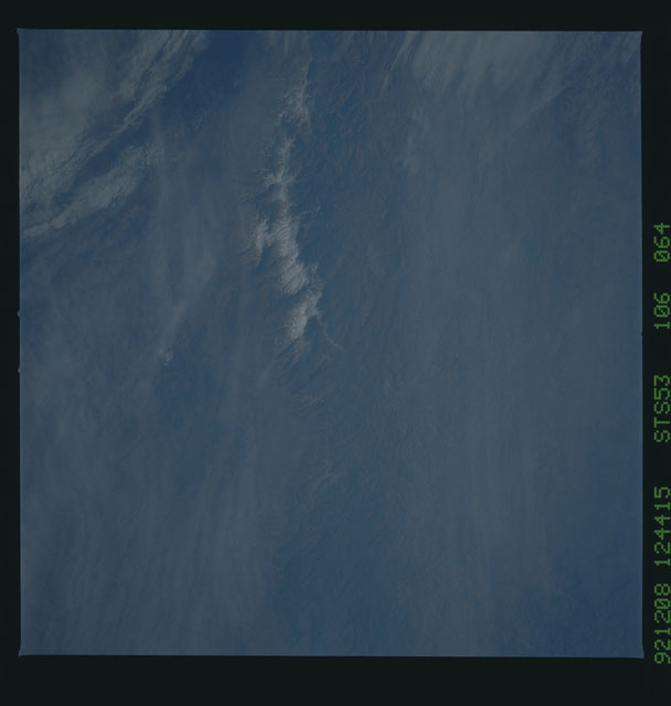 STS053-106-064 - STS-053 - Earth observations