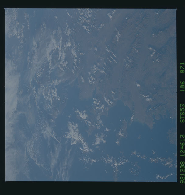 STS053-106-071 - STS-053 - Earth observations