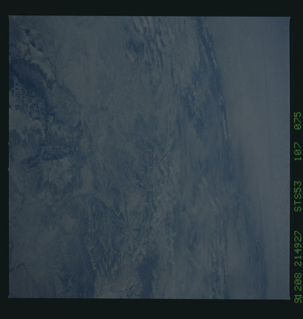 STS053-107-075 - STS-053 - Earth observations
