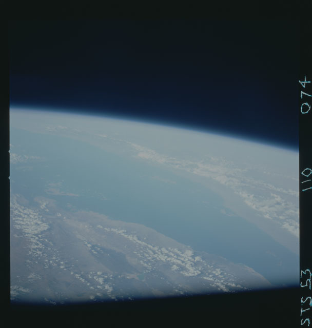 STS053-110-074 - STS-053 - Earth observations