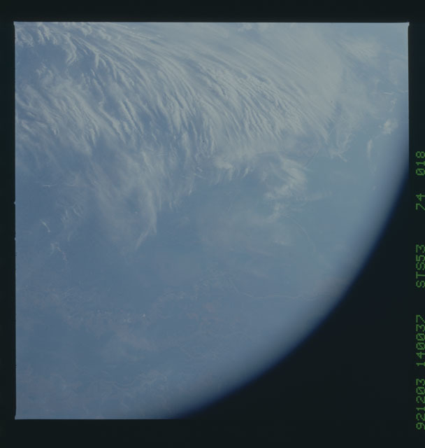 STS053-74-018 - STS-053 - Earth observations