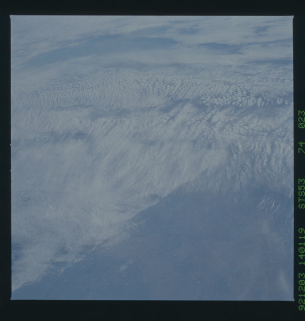 STS053-74-023 - STS-053 - Earth observations