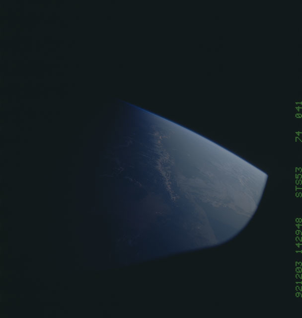STS053-74-041 - STS-053 - Earth observations