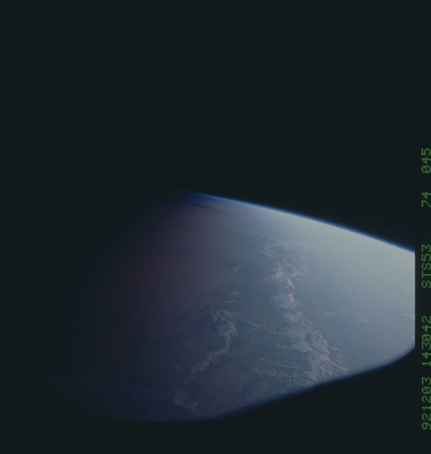 STS053-74-045 - STS-053 - Earth observations