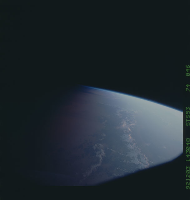 STS053-74-046 - STS-053 - Earth observations