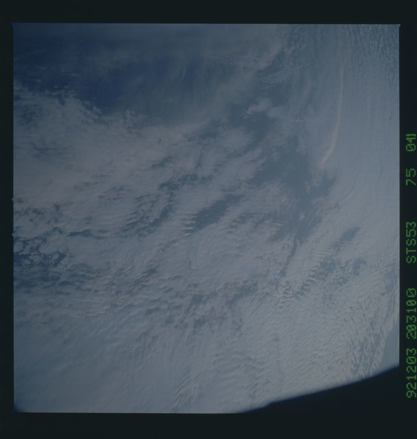STS053-75-041 - STS-053 - Earth observations