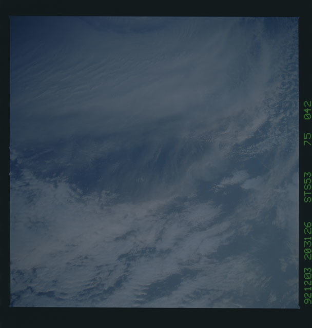 STS053-75-042 - STS-053 - Earth observations